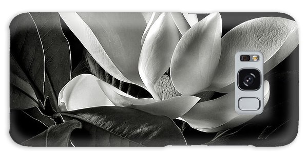 Magnolia In Black And White Galaxy Case