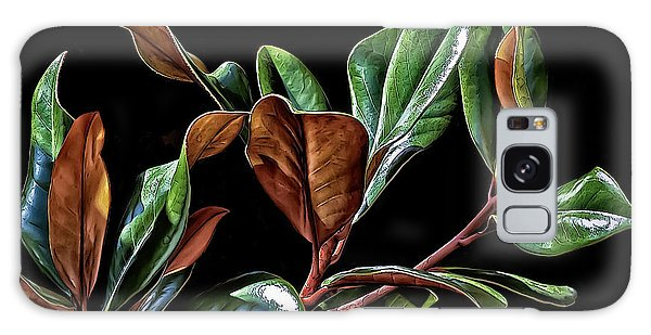 Magnolia Leaves Galaxy Case