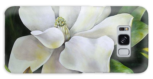 Magnolia Oil Painting Galaxy Case