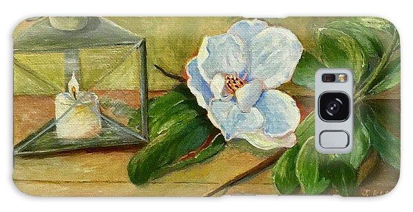 Magnolia On Mantel  Galaxy Case