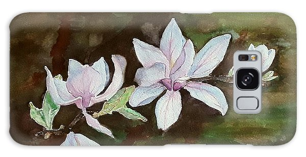 Magnolia - Painting  Galaxy Case