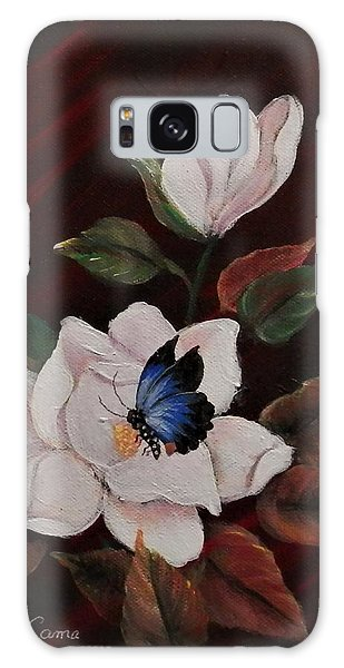 Magnolia With Butterfly Galaxy Case