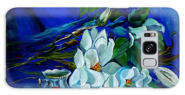 Magnolias And Cream Galaxy Case by Jenny Lee