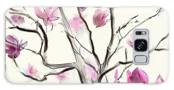 Magnolias In Bloom Galaxy Case