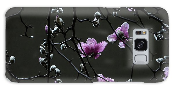 Magnolias In Rain Galaxy Case