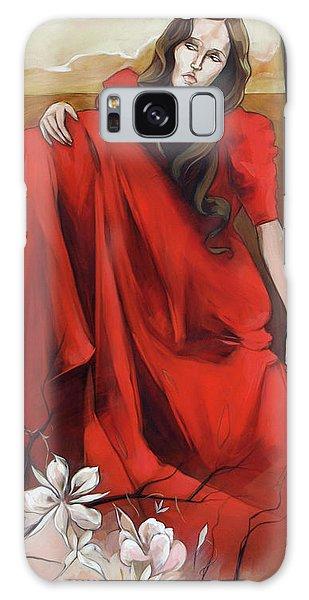 Magnolia's Red Dress Galaxy Case