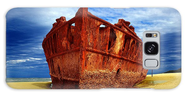 Maheno Shipwreck Fraser Island Queensland Australia Galaxy Case by Gary Crockett
