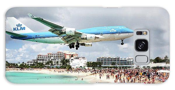 Maho Beach Caribbean Island Of St Maarten Galaxy Case