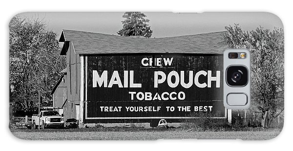Mail Pouch Tobacco In Black And White Galaxy Case