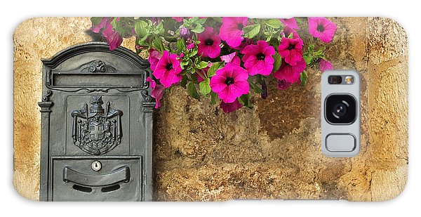 Mailbox With Petunias Galaxy Case