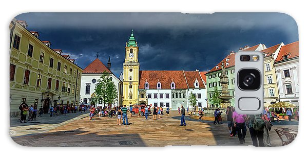Main Square In The Old Town Of Bratislava, Slovakia Galaxy Case