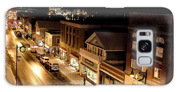 Main Street - Lake Placid New York Galaxy Case by Brendan Reals