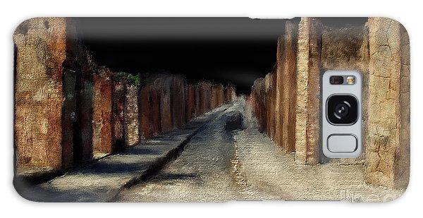 Main Street, Pompeii Galaxy Case by Lois Bryan