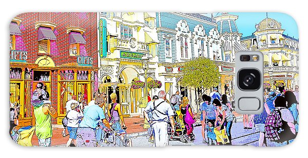Main Street Usa Walt Disney World Poster Print Galaxy Case by A Gurmankin