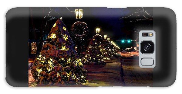 Wellsboro Galaxy Case - Main Street Wellsboro At Christmas by Bernadette Chiaramonte