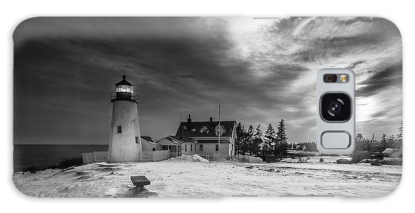 Maine Coastal Storm Over Pemaquid Lighthouse Galaxy Case by Ranjay Mitra