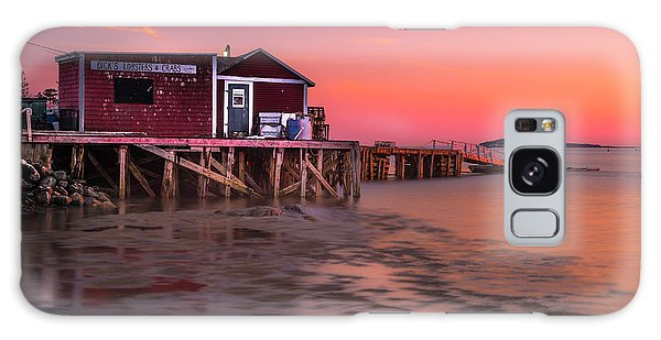 Maine Coastal Sunset At Dicks Lobsters - Crabs Shack Galaxy Case