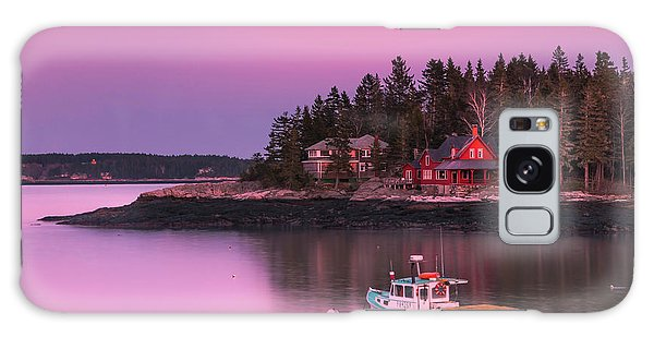 Maine Five Islands Coastal Sunset Galaxy Case