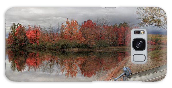 Maine Lake In Autumn Galaxy Case