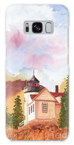 Maine Lighthouse In Morning Light Galaxy Case
