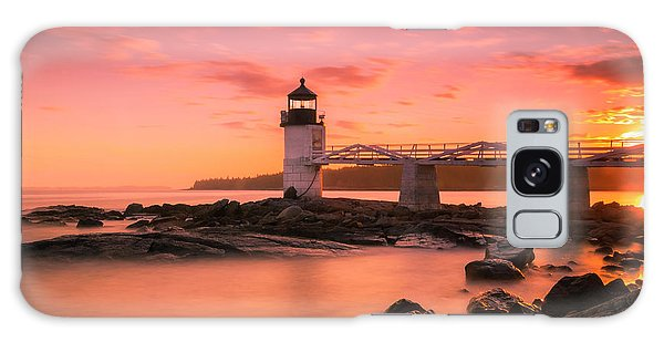 Maine Lighthouse Marshall Point At Sunset Galaxy Case