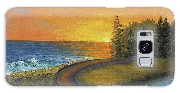 Maine Ocean Sunrise Galaxy Case