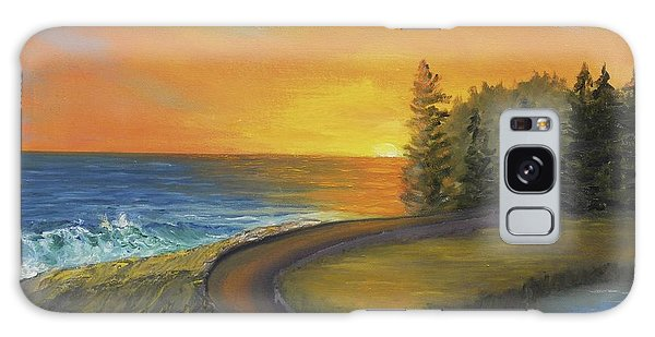 Maine Ocean Sunrise Galaxy Case