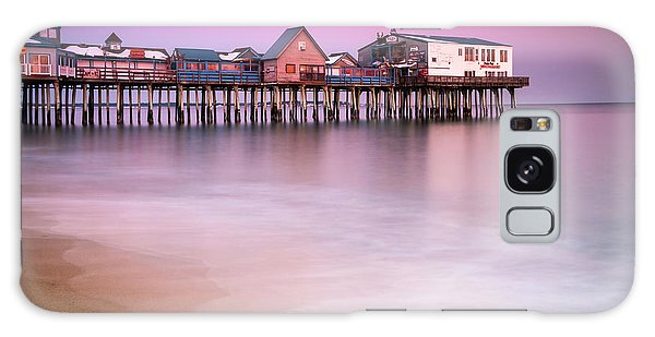 Maine Old Orchard Beach Pier Sunset  Galaxy Case