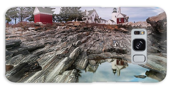 Maine Pemaquid Lighthouse Reflection Galaxy Case