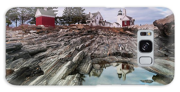 Maine Pemaquid Lighthouse Reflection Galaxy Case by Ranjay Mitra