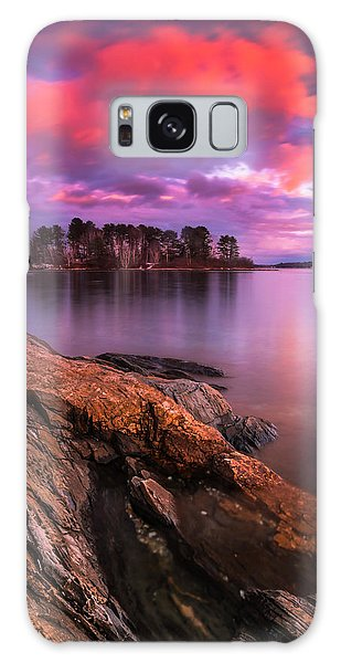 Maine Pound Of Tea Island Sunset At Freeport Galaxy Case
