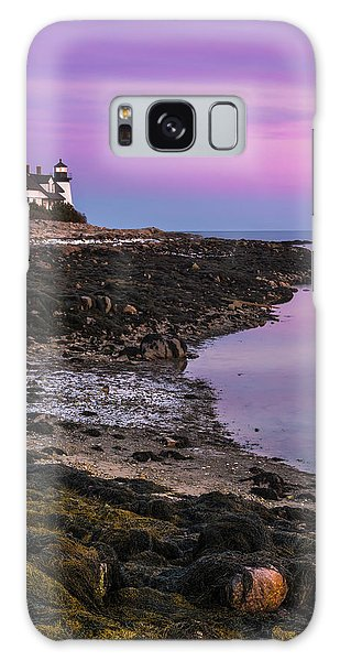 Maine Prospect Harbor Lighthouse Sunset In Winter Galaxy Case