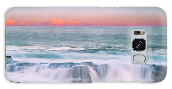 Maine Rocky Coastal Sunset Panorama Galaxy Case