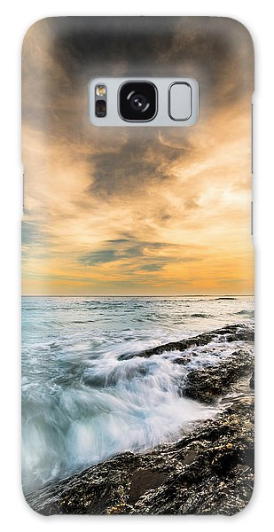 Maine Rocky Coastal Sunset Galaxy Case