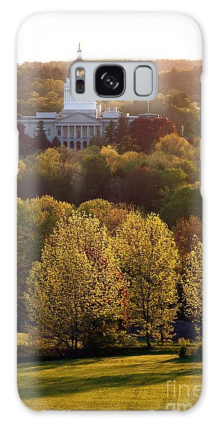 Maine State Capitol At Sunset Galaxy Case by Olivier Le Queinec