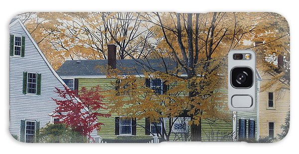 Autumn Day On Maine Street, Kennebunkport Galaxy Case by Barbara Barber