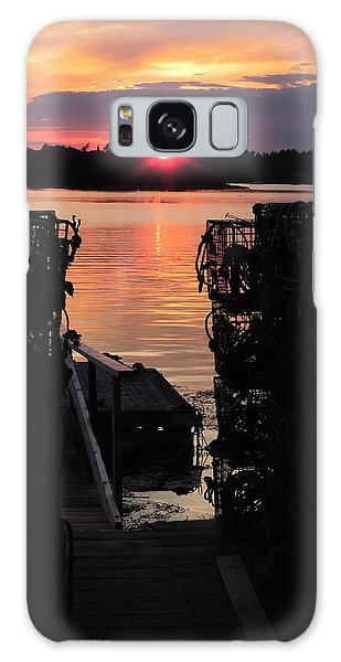 Maine Sunset And Traps Galaxy Case