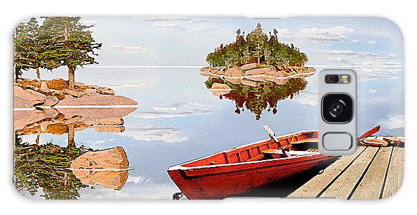 Maine-tage Galaxy Case by Peter J Sucy