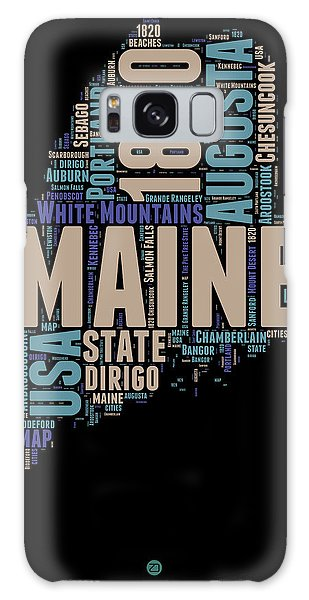 America Map Galaxy Case - Maine Word Cloud 1 by Naxart Studio
