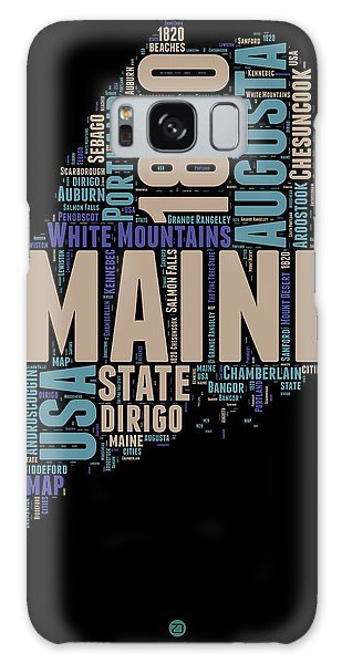 Usa Galaxy Case - Maine Word Cloud 1 by Naxart Studio
