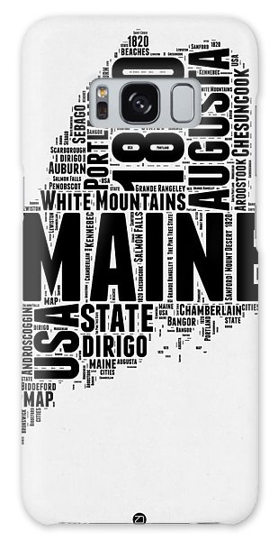 America Map Galaxy Case - Maine Word Cloud 2 by Naxart Studio