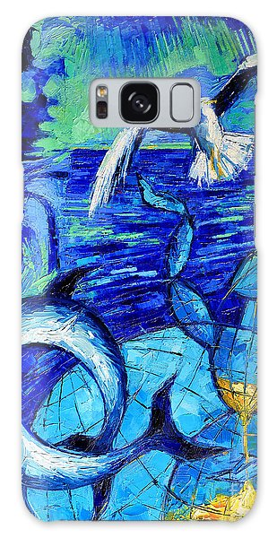 Majestic Bleu Galaxy Case by Mona Edulesco