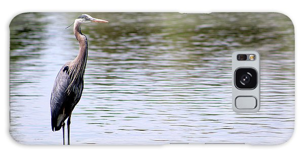 Majestic Great Blue Heron Galaxy Case