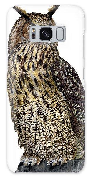 Majestic Eurasian Northern Eagle Owl Bubo Bubo - Hibou Grand-duc - Buho Real - Nationalpark Eifel Galaxy Case