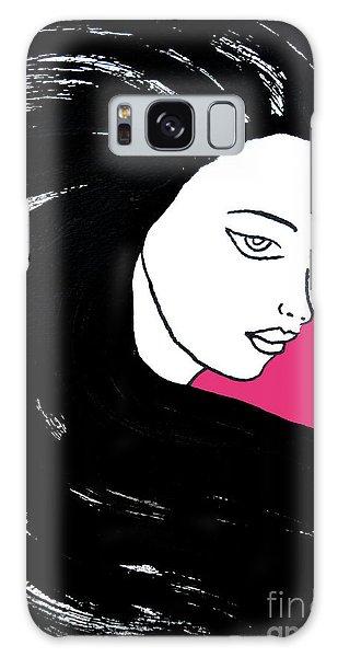 Majestic Lady J0715c Honeysuckle Pink Pastel Painting 18-2120 Da4f70 E53679 Galaxy Case
