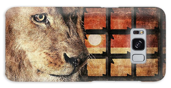Majestic Lion In Captivity Galaxy Case