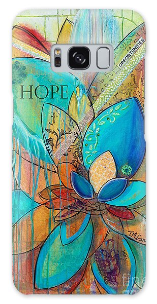 Galaxy Case featuring the painting Spirit Lotus With Hope by TM Gand