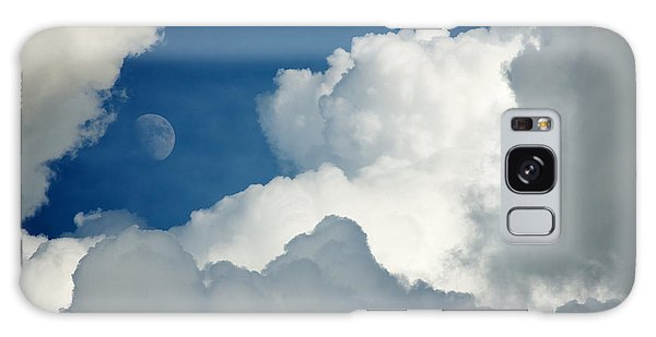 Majestic Storm Clouds With Moon Galaxy Case