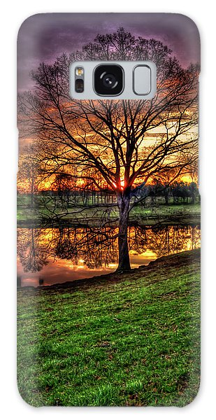 Majestic Sunrise Reflections Art Galaxy Case