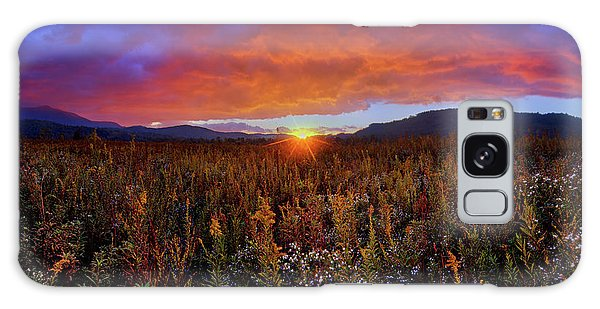 Majestic Sunset Over Cades Cove In Smoky Mountains National Park Galaxy Case